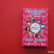 """Jeux de cartes: JUEGO INFANTIL DE CARTAS O NAIPES """"BARAJA SOLIDARIA""""POR LOS DERECHOS DE LA INFANCIA. Lote 217696682"""