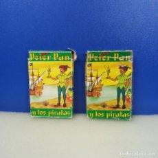 Barajas de cartas: LOTE 2 BARAJAS CARTAS INFANTIL FOURNIER COMPLETAS PETER PAN Y LOS PIRATAS 33 + 44 CARTAS. Lote 217718527