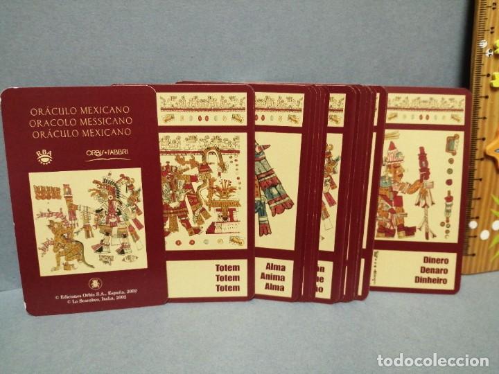 Barajas de cartas: BARAJA CARTAS ORÁCULO MESSICANO EDICIONES OBIT 2002 - Foto 2 - 217779552