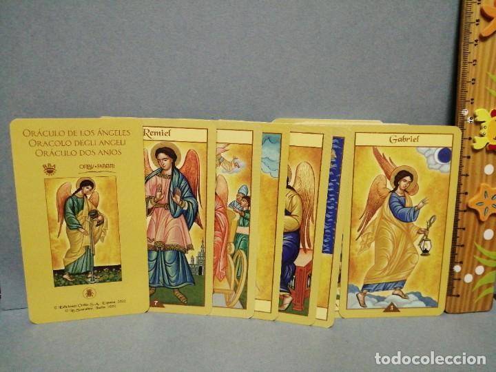 Barajas de cartas: BARAJA CARTAS ORÁCULO DEGLI ANGELI EDICIONES OBIT 2002 - Foto 2 - 217780153