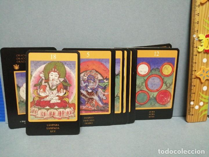 Barajas de cartas: BARAJA CARTAS ORÁCULO TIBETANO EDICIONES OBIT 2002 - Foto 2 - 217780838
