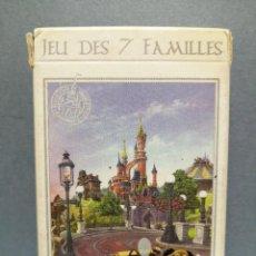 Barajas de cartas: BARAJA CARTAS 7 FAMILIAS DISNEYLAND PARIS. Lote 217783483