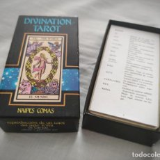 Barajas de cartas: DIVINATION TAROT NAIPES COMAS REPRODUCCION TAROT SIGLO XVIII 18 CENTURY NEGSA COMPLETO. Lote 217817317