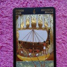 Barajas de cartas: TAROT DORADO DE NEFERTITIS PALO DE ESPADAS 6 EDIZIONE D'ARTE LO SCARABEO 1999 5 IDIOMAS. Lote 217884170