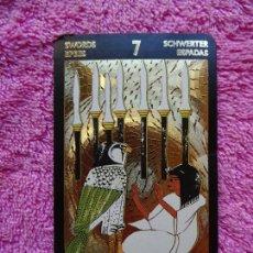 Barajas de cartas: TAROT DORADO DE NEFERTITIS PALO DE ESPADAS 7 EDIZIONE D'ARTE LO SCARABEO 1999 5 IDIOMAS. Lote 217884286