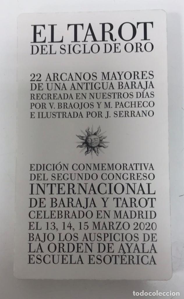 TAROT SIGLO DE ORO ILUSTRADOR JAVIER SERRANO IDEA M. PACHECO Y V. BRAOJOS 22 NAIPES (Juguetes y Juegos - Cartas y Naipes - Barajas Tarot)