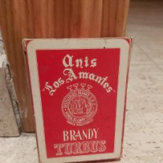 Barajas de cartas: BARAJA DE CARTAS ANIS LOS AMANTES BRANDY TURBUS MONREAL DEL CAMPO TERUEL. Lote 217945972