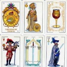 Barajas de cartas: BARAJA ESPAÑOLA DEL CARNAVAL DE VENECIA. Lote 218036047