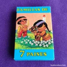 Barajas de cartas: BARAJA INFANTIL FOURNIER. FAMILIAS 7 PAISES. 1ªEDICION. 42 CARTAS. NUEVA SIN USAR. 1964.. Lote 218081556