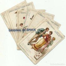 Barajas de cartas: (CHO-527)BARAJA DE CARTAS FABRICA DE CHOCOLATES EL BARCO VALENCIA - NAIPES SUELTOS A 8 EUROS. Lote 218126432