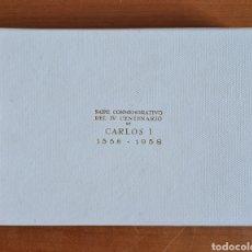 Barajas de cartas: BARAJAS FOURNIER NAIPES CONMEMORATIVOS IV CENTENARIO CARLOS I Y V DE ALEMANIA 1558-1958 PRECINTADAS. Lote 218131853