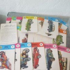 Barajas de cartas: ANTIGÜO JUEGO DE LOS COCHES ( 42 CARTAS ). Lote 218193503