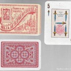 Barajas de cartas: BARAJA HIJA DE B. FOURNIER, POKER ESPAÑOL Nº 33. QUEBRADO FELIPE V, Nº 78 EN EL 5 ESPADAS DE 1939. Lote 81472604