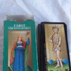 Barajas de cartas: CARTAS TAROT VISCONTI-SFORZA LO SCARABEO 2000. Lote 218294428