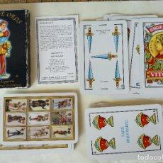 Barajas de cartas: BARAJA ESPAÑOLA REVERSO DISEÑOS HISTÓRICOS SOTA DE OROS. FOURNIER. COMPLETA 40 CARTAS. Lote 218434905