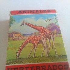 Barajas de cartas: BARAJA DE CARTAS .H,FOURNIER,VICTORIA,1968.ANIMALES VERTEBRADOS.,SIN USAR.55 CART. Lote 218506471