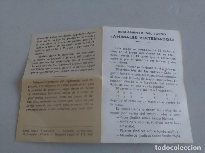 Barajas de cartas: BARAJA DE CARTAS .H,FOURNIER,VICTORIA,1968.ANIMALES VERTEBRADOS.,SIN USAR.55 CART - Foto 6 - 218506471