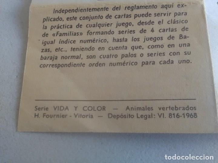 Barajas de cartas: BARAJA DE CARTAS .H,FOURNIER,VICTORIA,1968.ANIMALES VERTEBRADOS.,SIN USAR.55 CART - Foto 7 - 218506471