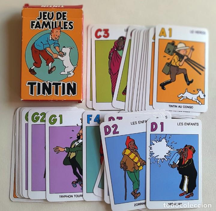 Barajas de cartas: TINTIN - CARTAS JUEGO DE FAMILIAS - NUEVO - Foto 3 - 218777370