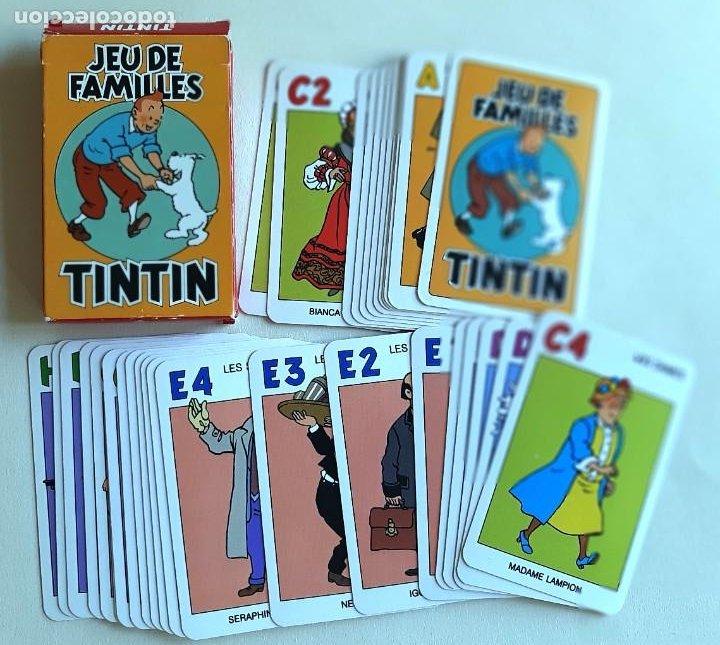 Barajas de cartas: TINTIN - CARTAS JUEGO DE FAMILIAS - NUEVO - Foto 4 - 218777370