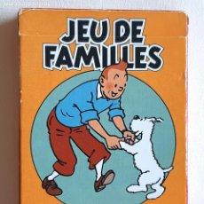 Barajas de cartas: TINTIN - CARTAS JUEGO DE FAMILIAS - NUEVO. Lote 218777370