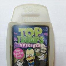 Barajas de cartas: BARAJA DE CARTAS TOP TRUMPS SPECIALS ( THE SIMPSONS ) CON 31 CARTAS. Lote 218835503