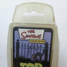Barajas de cartas: BARAJA DE CARTAS TOP TRUMPS SPECIALS ( THE SIMPSONS ) CON 33 CARTAS. Lote 218835581