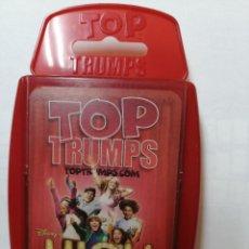 Barajas de cartas: BARAJA DE CARTAS TOP TRUMPS SPECIALS ( HIGH SCHOOL MUSICAL ) CON 33 CARTAS. Lote 218835983
