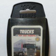 Barajas de cartas: BARAJA DE CARTAS TOP TRUMPS ( TOP ACE TRUMPS ) CON 33 CARTAS. Lote 218837248