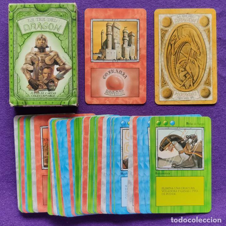 Barajas de cartas: BARAJA INFANTIL FOURNIER. LA IRA DEL DRAGON, VERDE. 50 CARTAS. SIN USAR. - Foto 4 - 218913557