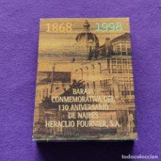Barajas de cartas: BARAJA FOURNIER ESPAÑOLA. CONMEMORATIVA DEL 130 ANIVERSARIO DE NAIPES HERACLIO FOURNIER, S.A. 1998.. Lote 218917606
