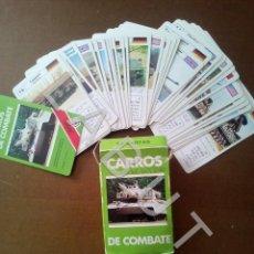 Barajas de cartas: CARROS DE COMBATE BARAJA DE CARTAS NAIPES FOURNIER COMPLETA CJ7. Lote 219100081