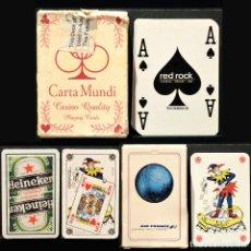 Barajas de cartas: LOTE 3 BARAJAS CARTAS POKER PUBLICITARIAS. Lote 219119101