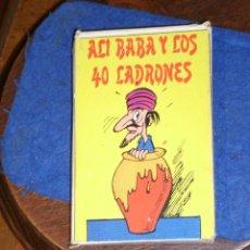 Barajas de cartas: BARAJA INFANTIL,ALI BABA Y LOS 40 LADRONES,DE NAIPES COMAS.1974,COMPLETA Y CON INTRUCCIONES.. Lote 219134833