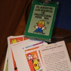 Jeux de cartes: BARAJA INFANTIL EL JUEGO DE LOS EQUIPOS DE PROTECCION PERSONAL.DE FOURNIER. Lote 219135685