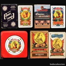Barajas de cartas: LOTE 4 BARAJA DE CARTAS ESPAÑOLA BURGOS FOURNIER Y COMAS BARCELONA. Lote 219142756