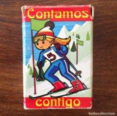 Barajas de cartas: BARAJA INFANTIL FOURNIER - CONTAMOS CONTIGO - DEPORTES - 44 CARTAS -1974. Lote 219222980