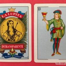 Jeux de cartes: MEX 51 NAIPE LA LUPITA BARAJA ESPAÑOLA AÑOS 90 MÉXICO 40 CARTAS. Lote 219310131