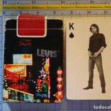 Barajas de cartas: BARAJA DE CARTAS DE PÓKER. VAQUEROS JEANS LEVIS LEVI'S. CURIOSOS NAIPES. 100GR. Lote 219341791