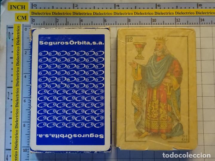 Barajas de cartas: BARAJA DE CARTAS ESPAÑOLA. FOURNIER. SEGUROS ÓRBITA S.A. PRECINTADA. 110GR - Foto 2 - 219341863