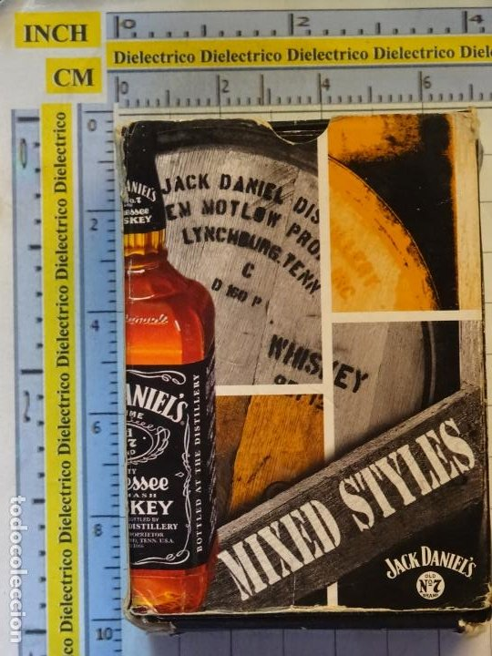 Barajas de cartas: BARAJA DE CARTAS ESPAÑOLA. BEBIDAS MIXED STYLES WHISKY JACK DANIELS. CURIOSOS NAIPES. 100GR - Foto 2 - 219341981