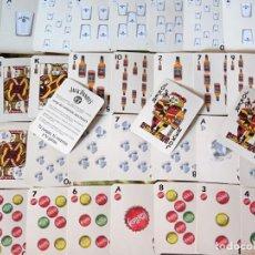 Barajas de cartas: BARAJA DE CARTAS ESPAÑOLA. BEBIDAS MIXED STYLES WHISKY JACK DANIEL'S. CURIOSOS NAIPES. 100GR. Lote 219341981