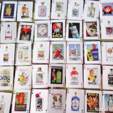 Barajas de cartas: BARAJA DE CARTAS PÓKER. BEBIDAS GINEGRA COCKTAIL. GOOD TIMES BE GIN. CURIOSOS NAIPES. 110GR. Lote 219342025