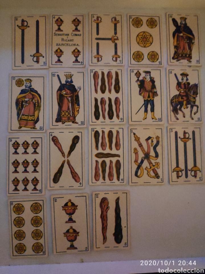 BARAJA SEBASTIAN COMAS Y RICART BARCELONA AÑO 1875 PERFECTO ESTADO (Juguetes y Juegos - Cartas y Naipes - Baraja Española)
