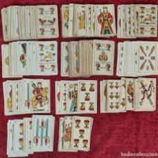 Barajas de cartas: COLECCION DE 11 BARAJAS INCOMPLETAS. PARA JUEGOS DE MAGIA. PRINCIPIOS SIGLO XX.. Lote 219461715