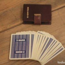 Barajas de cartas: BARAJA PUBLICIDAD INSTAL MAZDA 80 EN CARTERA IMITACIÓN A PIEL. Lote 219717236