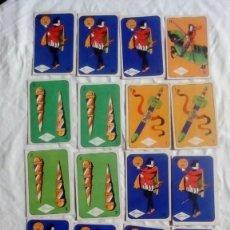 Barajas de cartas: LOTE 18 CROMOS BARAJA CARTAS DE ARTISTAS DE CINE TORRAS. Lote 219729358