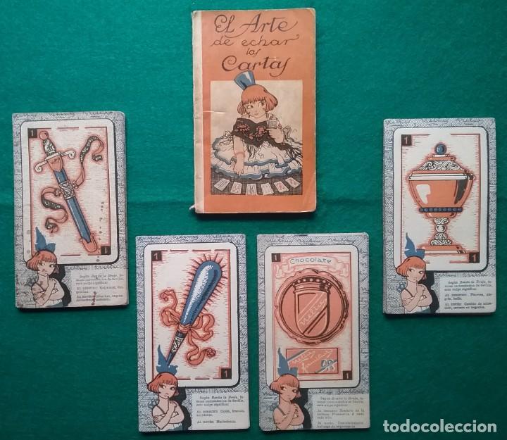 TAROT CARTOMANCIA NAIPES JUEGO DE CARTAS BENITA LA BRUJA PUBLICIDAD CHOCOLATE NELIA CIRCA 1920 (Juguetes y Juegos - Cartas y Naipes - Barajas Tarot)