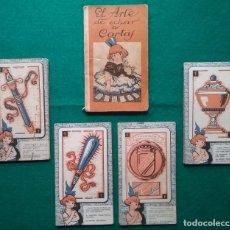 Barajas de cartas: TAROT CARTOMANCIA NAIPES JUEGO DE CARTAS BENITA LA BRUJA PUBLICIDAD CHOCOLATE NELIA CIRCA 1920. Lote 220236242