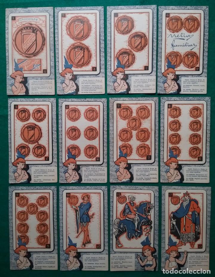 Barajas de cartas: TAROT CARTOMANCIA NAIPES JUEGO DE CARTAS BENITA LA BRUJA PUBLICIDAD CHOCOLATE NELIA CIRCA 1920 - Foto 2 - 220236242